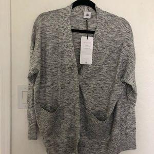 Cabi button down cardigan in gray size medium